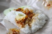 picture of nasi  - Nasi lemak traditional Malaysian coconut rice with spicy sauce - JPG