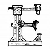 foto of steampunk  - Steampunk letter made of different technical pieces - JPG