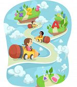 pic of driving school  - Illustration of Kids Driving Around in Pencil Shaped Cars - JPG