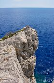 stock photo of promontory  - Rocky promontory on the Mediterranean Sea on the island of Rhodes - JPG