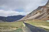 picture of manali-leh road  - Scenic Road In High Mountain Valley of Indian Himalaya - JPG