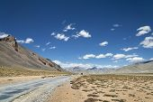 picture of manali-leh road  - National Highway Among High Altitude Mountains in India - JPG