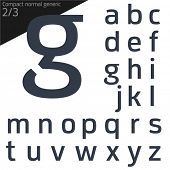 pic of verbs  - Vector illustration of generic font - JPG