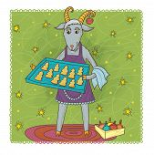 foto of pinner  - Joyful goat  - JPG
