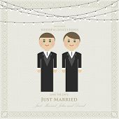 picture of gay wedding  - wedding invitation flat gay - JPG