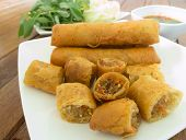 picture of por  - fried spring roll  - JPG