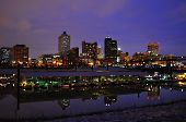 pic of memphis tennessee  - Downtown Memphis Tennessee at Night with Marina - JPG
