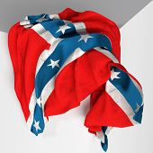 stock photo of confederation  - 3d rendering of an old confederate flag - JPG