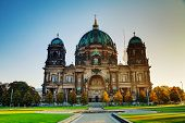 pic of dom  - Berliner Dom cathedral early in the morning - JPG