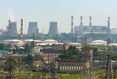 pic of electric station  - Extreme industry area in Moscow district Kapotnya - JPG