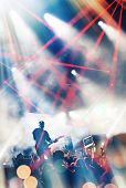 picture of guitarists  - Rock concert stage - JPG