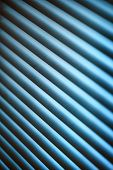 pic of jalousie  - Metal jalousie background in blue toning in closeup - JPG