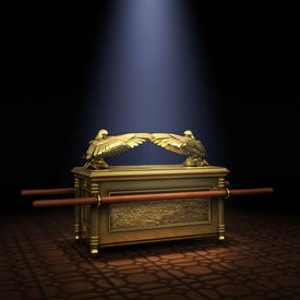 picture of tabernacle  - Ark of the Covenant inside the Holy of Holies illuminated with a shaft of light from above - JPG