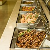 pic of buffet  - The food buffet in restaurant - JPG
