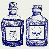 image of venom  - Glass bottles of poison - JPG