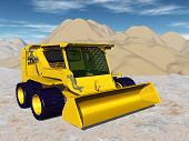 foto of skid-steer  - Computer generated 3D illustration with a Skid - JPG
