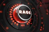foto of controller  - Rage Controller on Black Control Console with Red Backlight - JPG