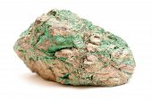 pic of copper  - green malachite and granite usually found in or near copper deposits - JPG