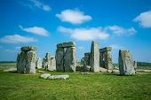 picture of stonehenge  - View at the Stonehenge at sunny day - JPG