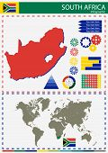 image of nationalism  - vector South Africa illustration country nation national culture - JPG