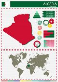 pic of nationalism  - vector Algeria illustration country nation national culture - JPG