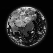 foto of southeast  - Southeast Asia on dark planet Earth isolated on black background - JPG