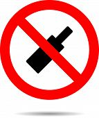 pic of alcoholic beverage  - Ban alcohol sign flat icon - JPG