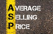 picture of average looking  - Business Acronym ASP as Average Selling Price - JPG