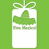 image of sombrero  - Sombrero cut out tag card in vector format - JPG