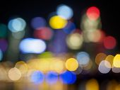 picture of singapore night  - Abstract city lights at night in Singapore - JPG
