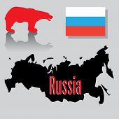 stock photo of novosibirsk  - Abstract colorful illustration with Russian flag - JPG
