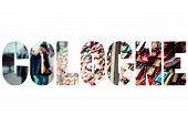stock photo of koln  - Word COLOGNE over thousands of love locks - JPG