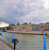 stock photo of matinee  - Day view of the Conciergerie  - JPG
