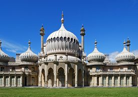 picture of saracen  - View of the Royal Pavilion Brighton West Sussex England UK Western Europe. ** Note: Visible grain at 100%, best at smaller sizes - JPG