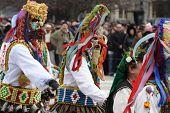 pic of mummer  - Bulgaria mummers parade 2009 - JPG