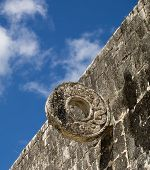 image of ziggurat  - the ancient game field of chichen itza at mexico - JPG