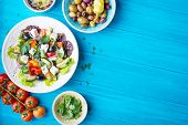 Постер, плакат: Greek Salad Background