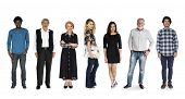 Group of Diversity Adult People Together Set Studio Isolated poster
