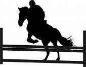 stock photo of horse riding  - horse jump - JPG