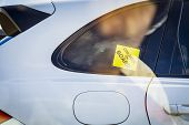 Children On Board, A Yellow Child Sticker In The Car Set On The Window Of A Car. Children In The Car poster