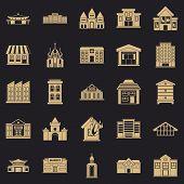 Land Development Icons Set. Simple Set Of 25 Land Development Icons For Web For Any Design poster