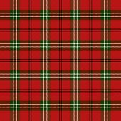 Tartan Plaid. Scottish Pattern In Black And Red Cage. Scottish Cage. Traditional Scottish Checkered  poster