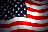 foto of waving american flag  - American Flag as background for Clip - JPG