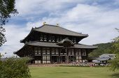 Beautiful View Of The Todai-ji Temple In Nara, The Great Buddha Hall poster