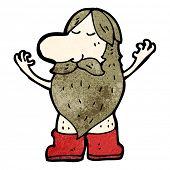 Постер, плакат: мультфильм нудистский человек