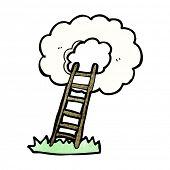 stock photo of stairway to heaven  - cartoon stairway to heaven - JPG