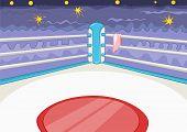 stock photo of bleachers  - Boxing Ring - JPG