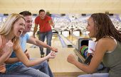 image of hair integrations  - Man bowling with friends - JPG