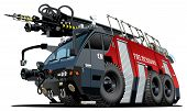 foto of big-rig  - Vector cartoon firetruck - JPG