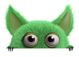 foto of gremlins  - 3 d cartoon cute green gremlin monster - JPG